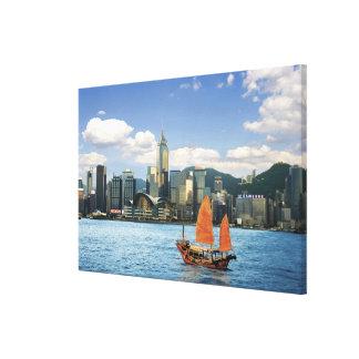 China; Hong Kong; Victoria Harbour; Harbor; A Canvas Print