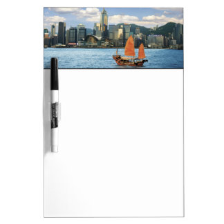 China; Hong Kong; Victoria Harbour; Harbor; A Dry Erase Board