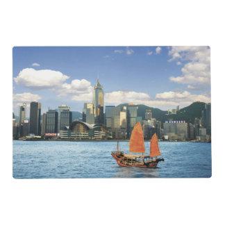 China; Hong Kong; Victoria Harbour; Harbor; A Laminated Placemat