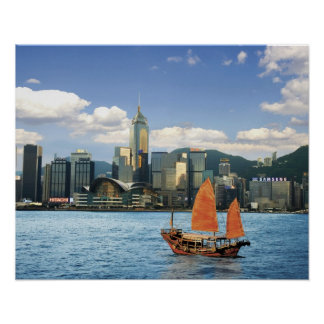 China; Hong Kong; Victoria Harbour; Harbor; A Poster