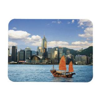 China; Hong Kong; Victoria Harbour; Harbor; A Vinyl Magnets
