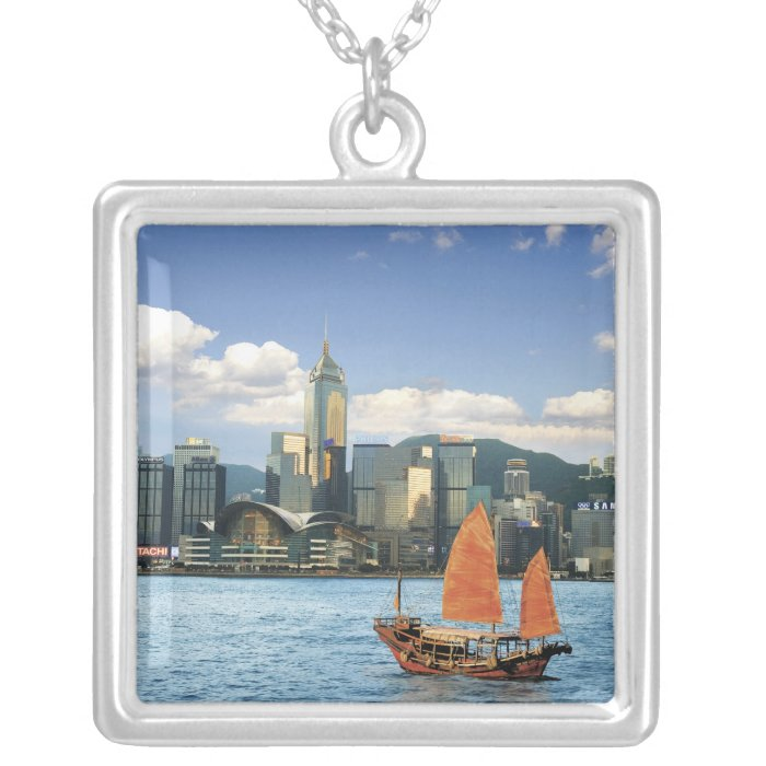 China; Hong Kong; Victoria Harbour; Harbor; A Silver Plated Necklace