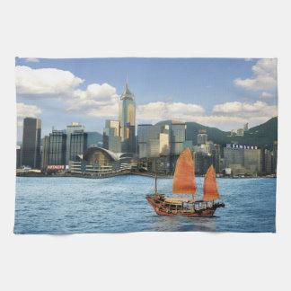 China; Hong Kong; Victoria Harbour; Harbor; A Towel