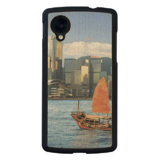 China; Hong Kong; Victoria Harbour; Harbor; A Carved® Maple Nexus 5 Slim Case