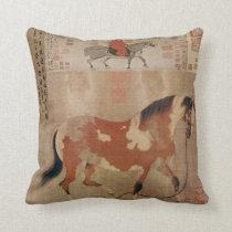 China Horses 2 Throw Pillow