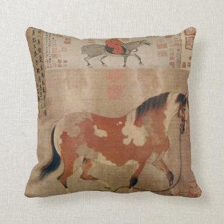 China Horses 2 Throw Pillows