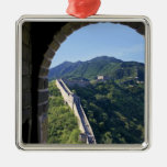 China, Huairou County, Mutianyu section of The Square Metal Christmas Ornament