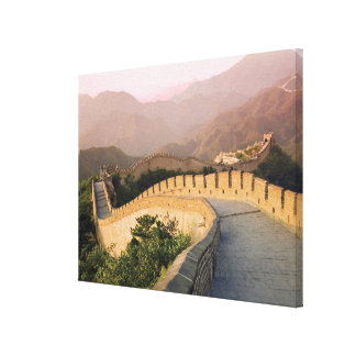 China, Huairou County, Sunset over the Canvas Print