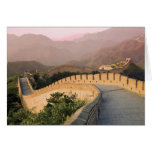 China, Huairou County, Sunset over the Greeting Card