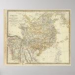 China, imperio de Birman, Coch en China, Tailandia Póster