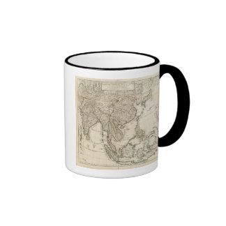 China, India, Asia Ringer Coffee Mug