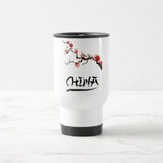 China Ink vintage travel poster. Travel Mug