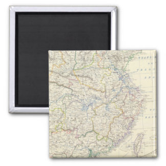 China, Japan 2 Inch Square Magnet