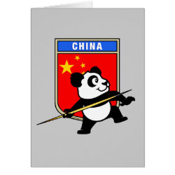 Greeting Card with Chinese Javelin Panda design