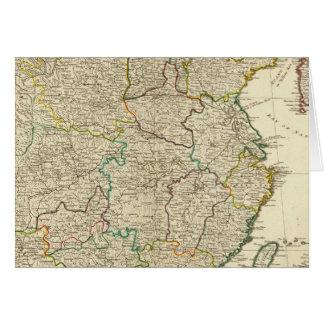 China, Korea atlas map Card