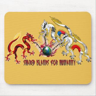 China Korea Japan shared islands for humanity Mouse Pad