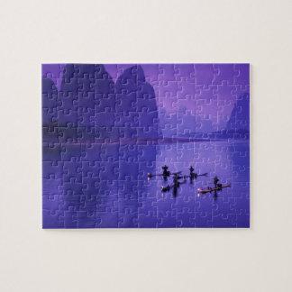 China, Li River. Cormorant fishermen. Jigsaw Puzzle