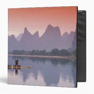 China, Li River. Single cormorant fisherman. Binder