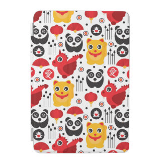 China lucky cat dragon and panda iPad mini cover