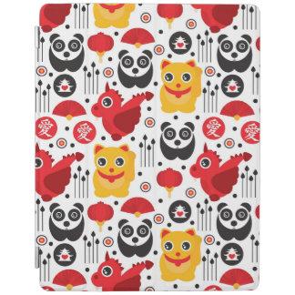 China lucky cat dragon and panda iPad cover