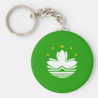 China Macao High quality Flag Basic Round Button Keychain