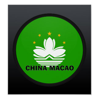 China Macao Roundel quality Flag Print