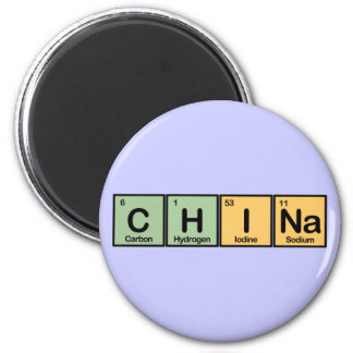 China made of Elements 2 Inch Round Magnet