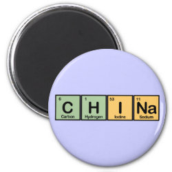 Round Magnet with China design