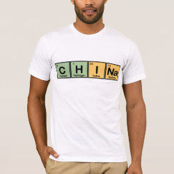 Men's Basic American Apparel T-Shirt with China design