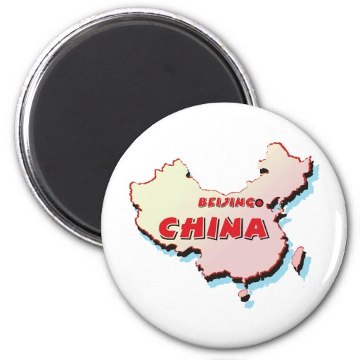 China Map 2 Inch Round Magnet