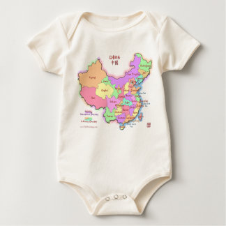 China Map Baby/Infant Wear Baby Bodysuit