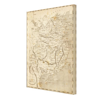 China Map by Arrowsmith Canvas Print