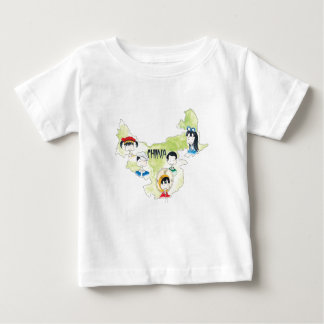 china Map Infant T Baby T-Shirt