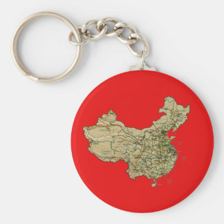 China Map Keychain
