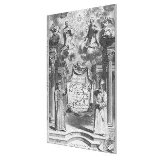 'China Monumentis' by Athanasius Kircher, Canvas Print