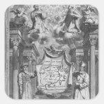 """""""China Monumentis"""" por Athanasius Kircher, Calcomanías Cuadradass Personalizadas"""