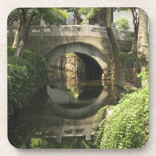 China, Nantong, an arched bridge forms a perfect Drink Coasters