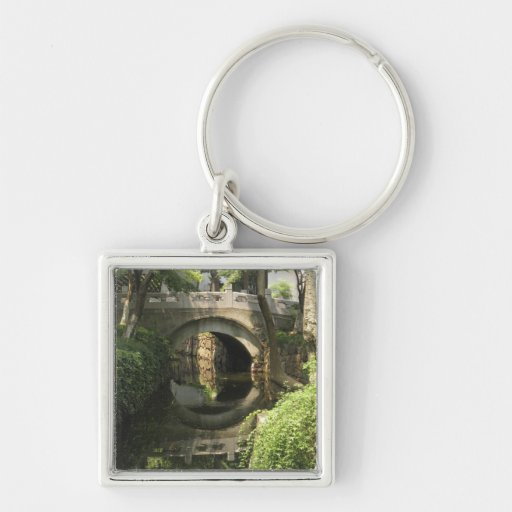 China, Nantong, an arched bridge forms a perfect Key Chain