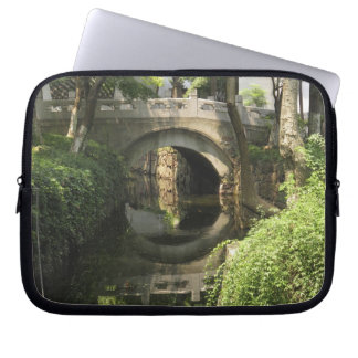 China, Nantong, an arched bridge forms a perfect Laptop Sleeves