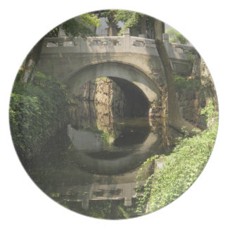 China, Nantong, an arched bridge forms a perfect Melamine Plate