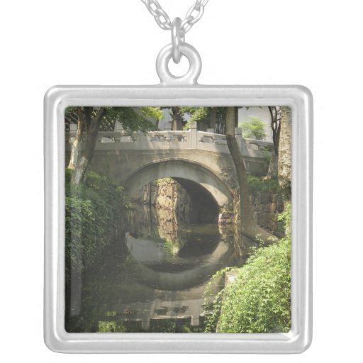 China, Nantong, an arched bridge forms a perfect Custom Necklace