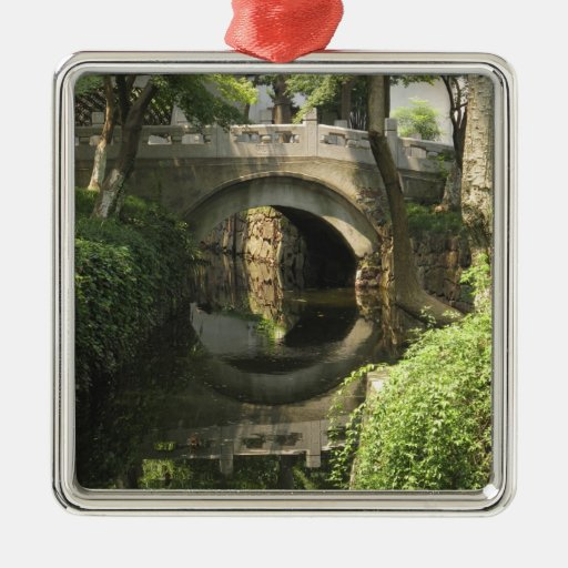 China, Nantong, an arched bridge forms a perfect Ornament