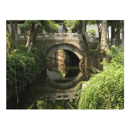 China, Nantong, an arched bridge forms a perfect Post Cards