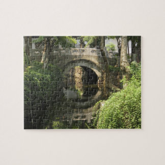 China, Nantong, an arched bridge forms a perfect Puzzle