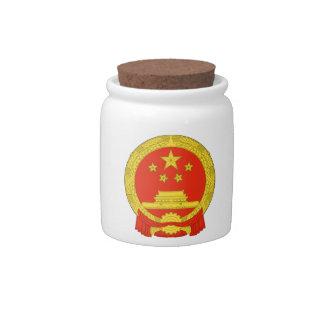 China National Emblem Candy Jar