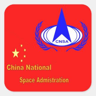 China National Space Administration  - CNSA Square Sticker