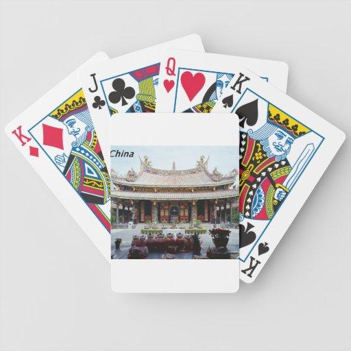 China  pagoda [kan.k] bicycle playing cards