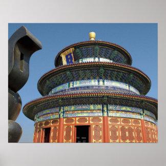 China Pekín el Templo del Cielo urna china aden Poster