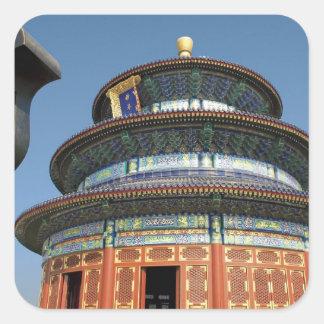 China Pekín el Templo del Cielo urna china aden Calcomania Cuadrada Personalizada