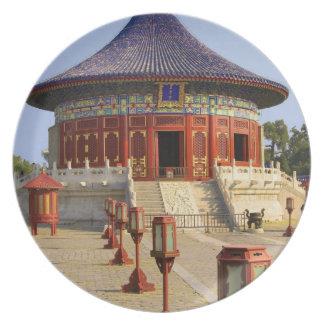 China, Pekín, parque del moreno de Tian, el Templo Plato Para Fiesta